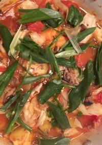 鰯缶とトマト缶の出会い & 野菜と味噌