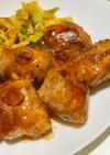 豆腐の豚肉巻き-オーロラソース-