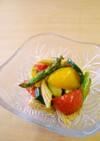 炙り野菜の胡麻和え