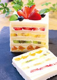 レインボー食パンケーキ