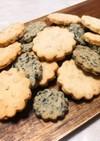 米粉の白黒ごまクッキー