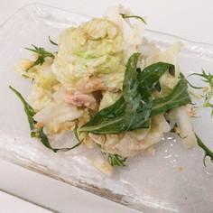白菜とツナのゴマだれ、落花生和え