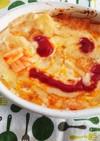 時短トースター焼き☆キムチーズオムライス