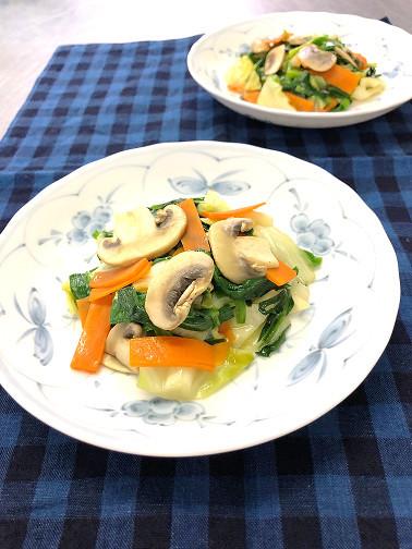 マッシュルームと野菜のソテー