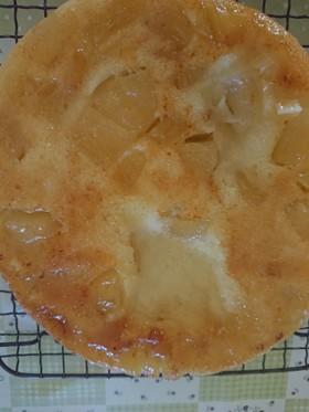 炊飯器であまった日本酒とりんごのケーキ