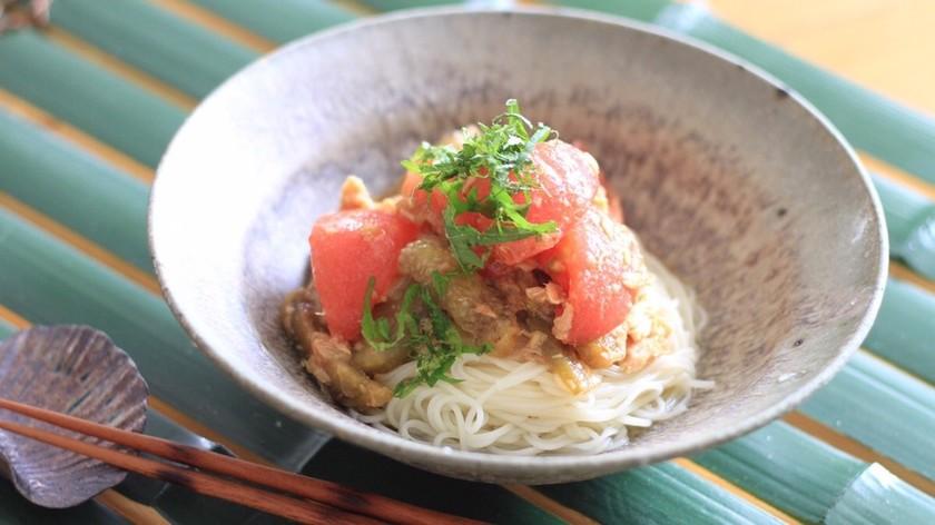 さっぱり美味しい!茄子とツナの冷やし素麺