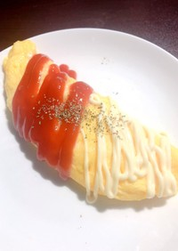 チーズオムレツ 【朝五分シリーズ】簡単