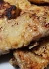 干し平茸の旨味を加えた豚肉のピカタです