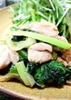 ご飯がススム★ター菜と鶏肉の炒めもの