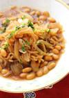 大豆と新たまねぎのとろとろこんにゃく煮