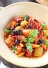 3種のお豆とタコのトマト煮込み