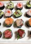 カラフル一口寿司レシピ