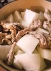 大根と秋川牧園のせせりの塩煮