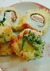 ちくわのチーズくるくる天ぷら♪
