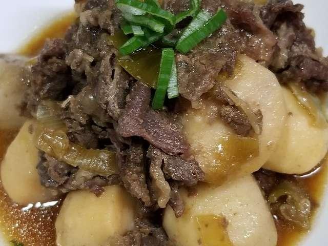 里芋 牛肉 煮物