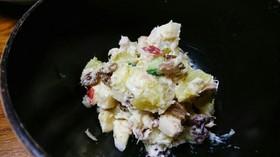 レーズン入りさつまいもとりんごのサラダ