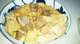 豚大根蒟蒻味噌煮(血管ダイエット1329