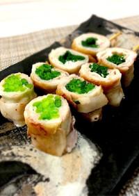 博多風野菜巻き串☆薬味ネギ