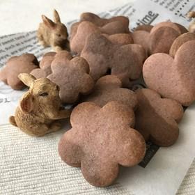 簡単♪苺とココアのマーブルクッキー♡