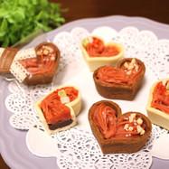 バレンタイン♪苺キャラメル生チョコタルト