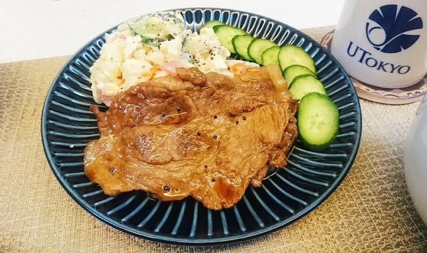 簡単美味しくて豚肉で南蛮漬け風定食♪
