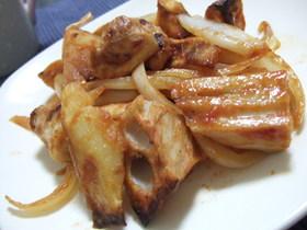 鶏肉とポテトの甘酢ケチャップ炒め