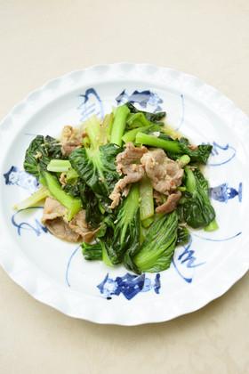 ご飯モリモリ☆ターサイと豚肉の油炒め