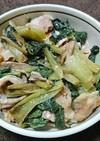 ターサイと豚バラ肉の香味ピリ辛炒め