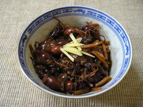 ホタルイカの生姜煮