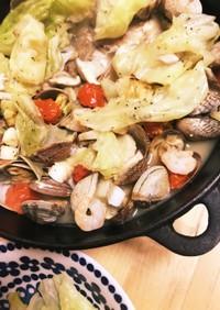 干物で野菜たっぷり味付簡単アクアパッツァ