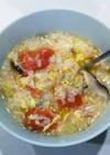 トマトとふんわり卵のあったか雑炊