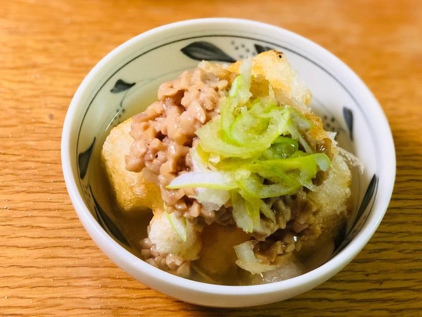 おろし納豆と揚げ餅