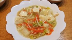 白菜とシーチキンの中華餡掛け豆腐入り