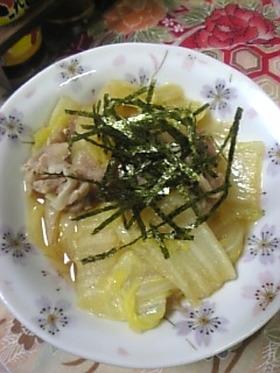 白菜と豚肉の鍋