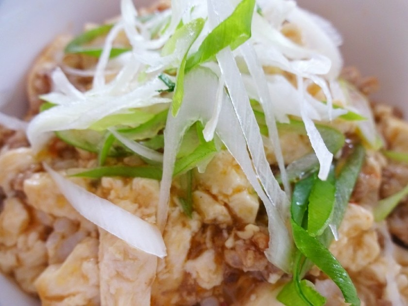 サッポロ一番 de 麻婆豆腐丼