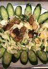 豆苗とタマゴ ツナサラダ