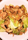 鶏茄子球菜のキムチ風味味噌炒め