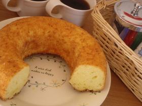 レモンとチーズのまぁるいケーキ