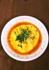 サッポロ一番しょう油味のスープでかに玉♪