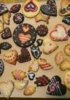 バレンタインに、可愛いアイシングクッキー