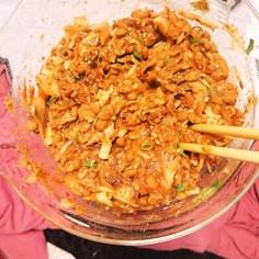 鯖キムたまチー納豆