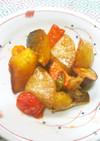 ❖素揚げ野菜達のオーロラウスター炒め❖