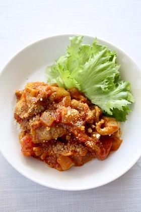 簡単メーン料理【ポークのトマトカレー煮】