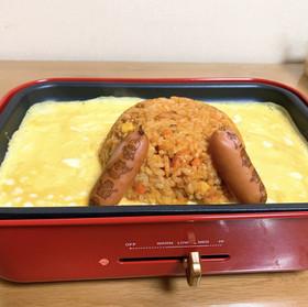 白滝オムライスレシピ3~4人分レシピ