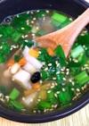 鯖と雑穀と根菜のスープ