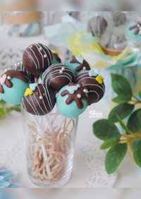 簡単★ チョコミント ケーキポップ