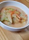 残り野菜Wキムチ豆乳❀食べる味噌スープ