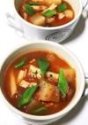 時短♡コロコロ大根と金時豆のトマトスープ