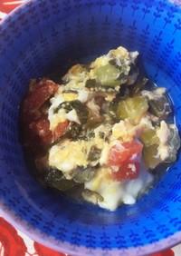 離乳食後期☆チンゲンサイ&トマト卵煮込み