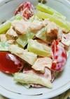 ブロッコリーの茎とミニトマトのツナサラダ